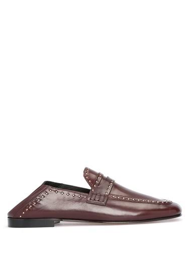 Etoile İsabel Marant %100 Deri Loafer Ayakkabı Bordo